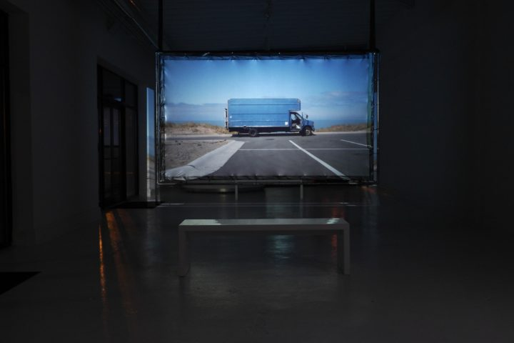 Nacelle: a video art exhibition by Marco G. Ferrari, Blanc Gallery, Chicago, IL, February 28–May 1, 2015. View of Nacelle, 2013–15.