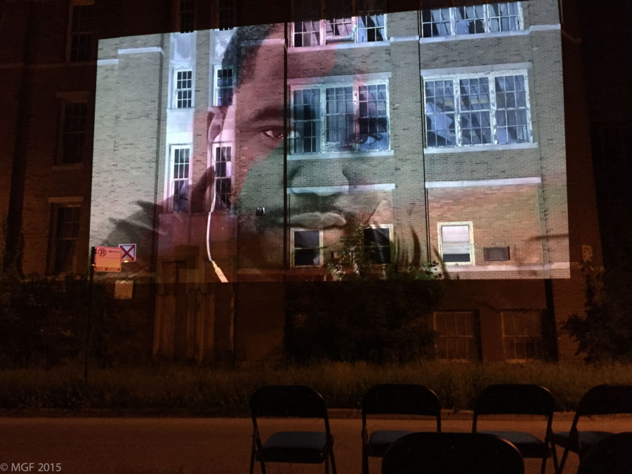 Surfaces: An Outdoor Video Projection