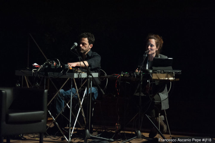 Immagina Sparita, 2017-, audiovisual performance, 30 min approx. What's left of the Syrian Revolution, International Journalism Festival, Perugia, Italy, April 12, 2018.