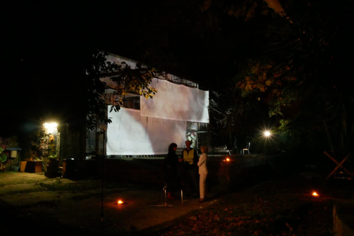 Porta Maggiore Projection - #1 Public Film Shoot, Csoa Ex Snia, Parco delle Energie, Rome, Italy, October 13, 2018. General view.
