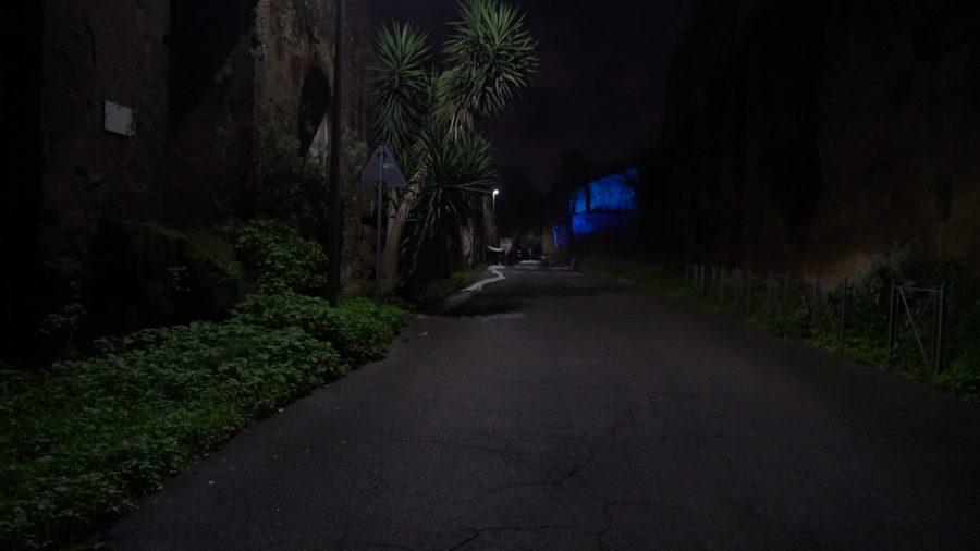 Delfini (per una scena di Porta Maggiore): Proiezione notturna estranea n. 3; Sull'Acquedotto Felice, via del Mandrione