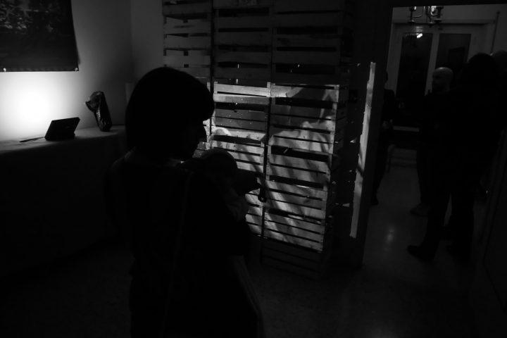 Marco G. Ferrari––Open Studio, 2018, via Gentile da Mogliano 29, Rome, Italy, view of Le api del lago Bullicante Ex Snia (per una scena di Porta Maggiore), 2018, video installation.