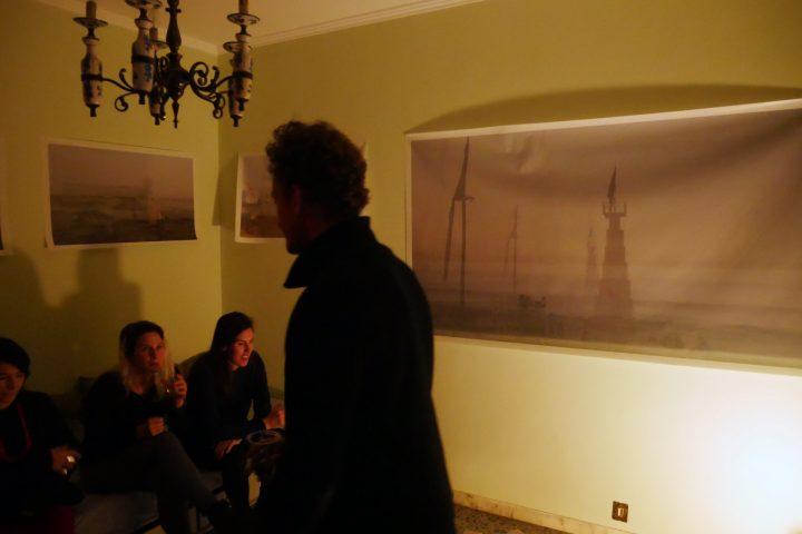 Marco G. Ferrari––Open Studio, 2018, via Gentile da Mogliano 29, Rome, Italy, view of artist.