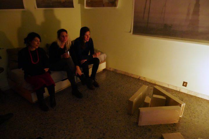 Marco G. Ferrari––Open Studio, 2018, via Gentile da Mogliano 29, Rome, Italy, view of In un cerchio un triangolo prova a liberarsi da un quadrato, 2018.