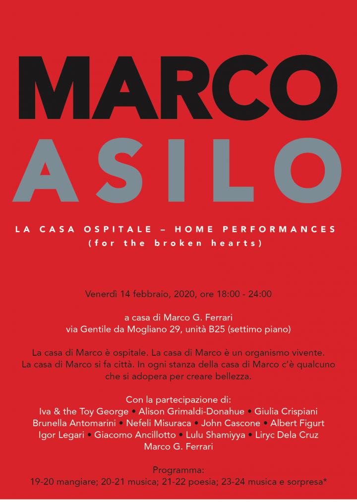 Marco Asilo: La Casa Ospitale; Home Performances (for the broken hearts)