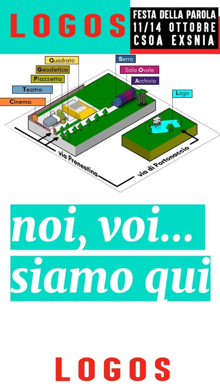 Logos - Festa della Parola ed. 2018, Csoa Ex Snia/Parco delle Energie, Rome, Italy. Poster.